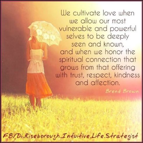 We cultivate love when...